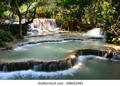 Laos Luang Prabang Waterfall Tat Kuang Si