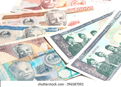 Laos money kip banknotes, LAK