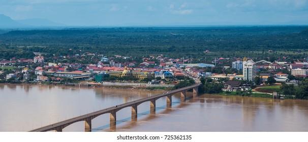 Laos-Japan Bridge at Pakse, Champasak, Laos