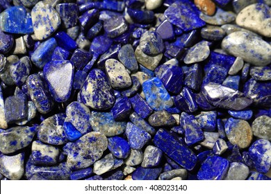 lapis lazuli mineral collection as natural background