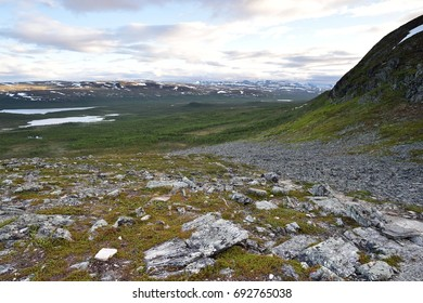 Lapland landscape with Scandinavian mountains, Malla National Reserve