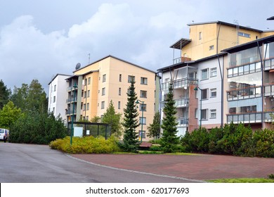 LAPPEENRANTA, FINLAND - AUGUST 18, 2016: Street in Lappeenranta at summer. City and municipality in Finland, administrative, economic and cultural center of the province of South Karelia.