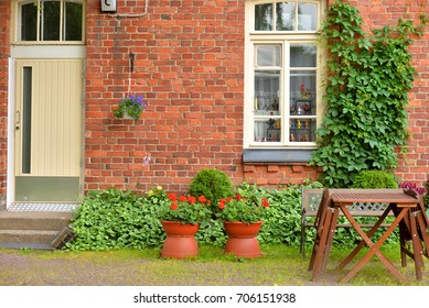 LAPPEENRANTA, FINLAND - AUGUST 18, 2017: Fragment of the old house in Fortress Lappeenranta. Lappeenranta - city and municipality in Finland, in the province of Eastern Finland.