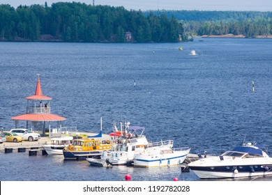 lappeenranta, Finland - JULY 15, 2018: Harbor in lappeenranta