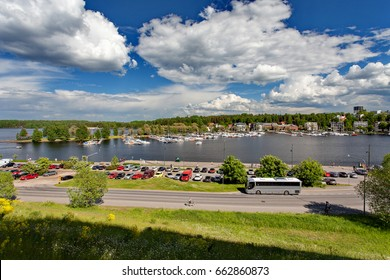 Lappeenranta, Finland - The Saimaa in the center of the Lappeenranta. View from the fort