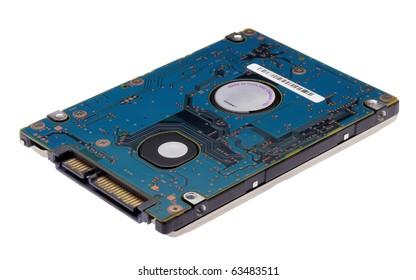 Laptop 2.5 inch SATA harddisk isolated on a white background
