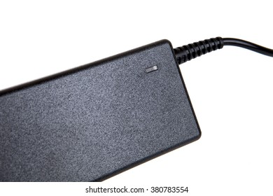 Laptop AC adapter charger isolated on white background