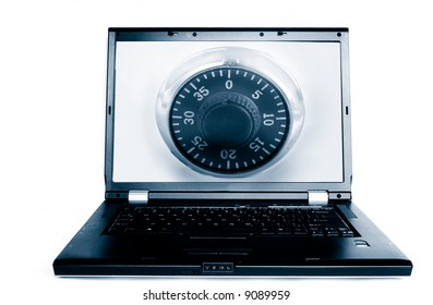 Laptop with a combination lock(computer security)