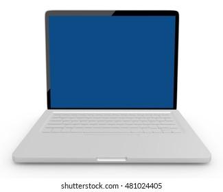 Laptop Computer - 3d rendering