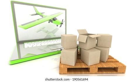 laptop computer (delivery concept)