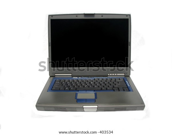 laptop computer front view