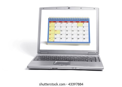 Laptop Computer on Isolated White Background