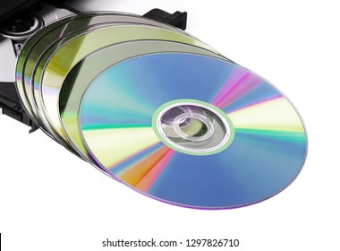 Laptop computer with reflection CD DVD optical drive open cd-rom set