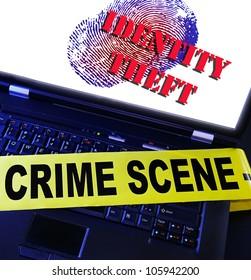 laptop fingerprint with Identity Theft text