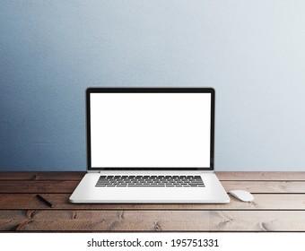 Laptop in interior