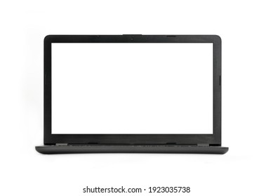 Laptop isolated on white background - with clipping paths for laptop and screen