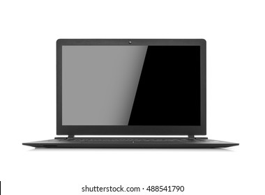 Laptop isolated on white background. With clipping path.
