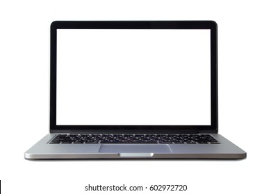 laptop isolated a white background.