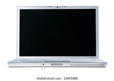 Laptop isolated [with clipping paths for laptop and for screen]