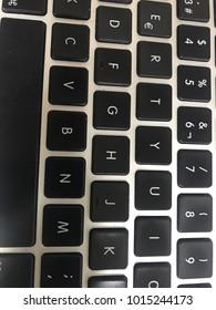 Laptop keyboard closeup