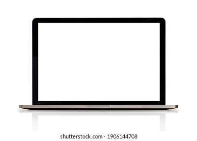 Laptop or notebook isolate on white background, clipping path