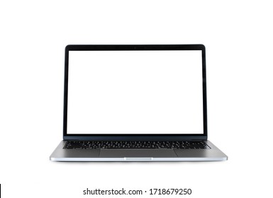 A laptop on a white background.