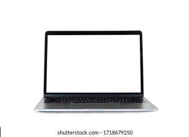 Un ordinateur portable sur fond blanc.