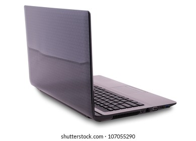 Laptop on white background. Clipping path included.
