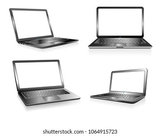 Laptop PC Computer, Notebook, Technology Electronics, Computers with blank space for your presentation message - Raster Version