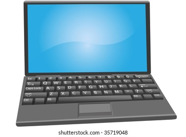A Laptop PC Notebook Computer with keyboard key labels.