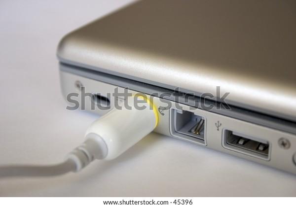 Laptop power connection.
