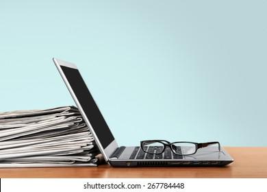 Laptop, press, news.