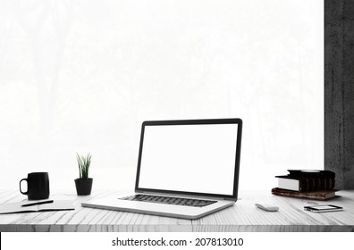 Laptop in room