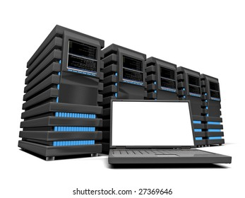 Laptop and servers