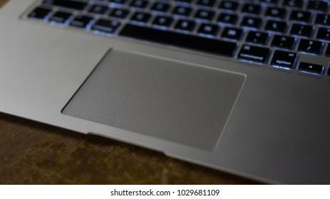 Laptop Trackpad right view