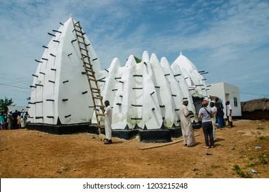 Larabanga, Ghana. September the 19th 2018.  Larabanga Mosque.