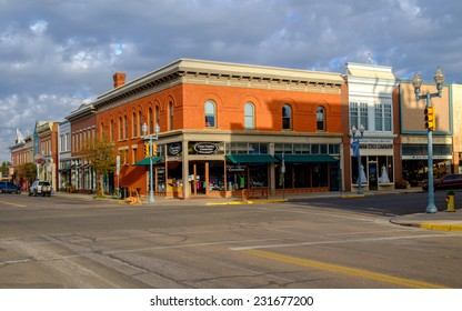 LARAMIE, WY, USA â?? SEPTEMBER 28: Quiet Sunday morning on September 28, 2014 in historic downtown Laramie.
