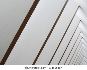 large abstract graphism in white wall