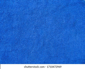 Large aerial view of blue micro fiber cloth pattern.