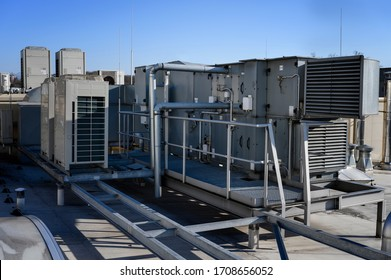 Large air handling unit on the roof.