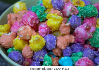 a large amount of brightly colored popcorn