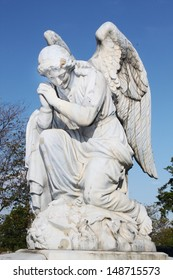Large angel, detail of a cemetery decor