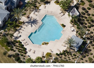 Large Apartment Complex Swimming Pool