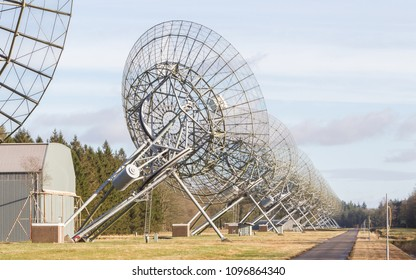 Large array radio telescope in the Netherlands