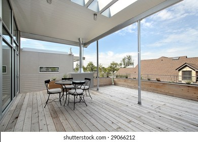 Large balcony off of master bedroom