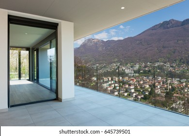 Large balcony, view of mountain