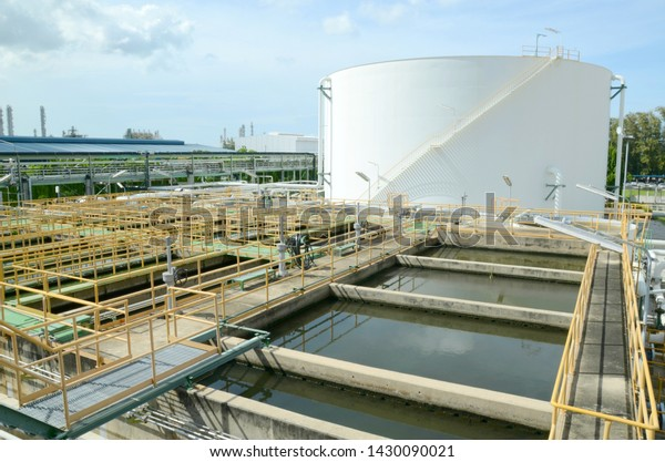 Large Big Tanks Oil Tanks Industrial Stock Photo (Edit Now