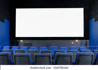 large Billboard in the form of a cinema monitor, convey information through the screen in the cinema hall. large advertising layout.