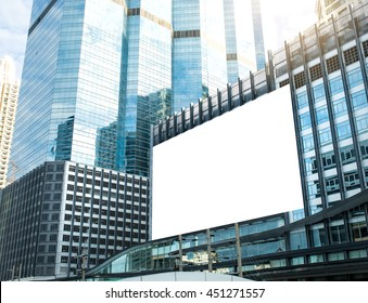 Large billboard Signs for advertisement on buildings at the downtown area economy,Business