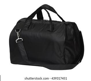 large black duffel bag, handbag isolated on white background